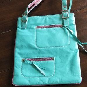 Wilson Leather Maxima Teal Handbag